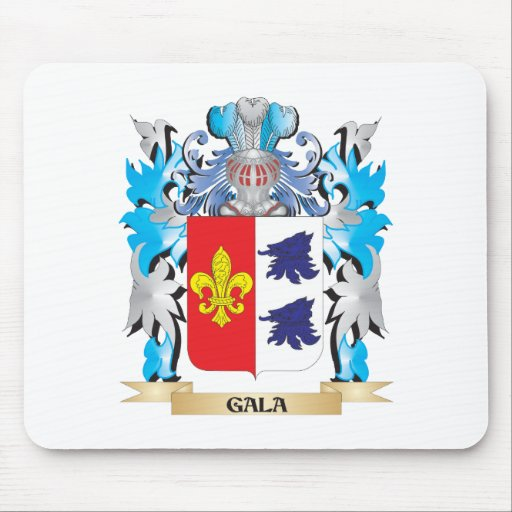 Gala Coat of Arms - Family Crest Mousepads
