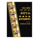 Gala de la foto del cumpleaños de la celebridad de invitación 12,7 x 17,8 cm