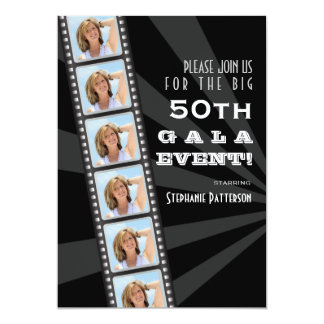 Gala de la foto del cumpleaños de la celebridad de invitación