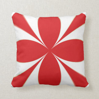"""Gala Pattern"" 11: Red/White Abstract Throw Pillow"