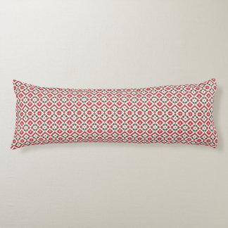 """Gala Pattern""9: Red/Grn/Whi Diamnd Body Pillow"