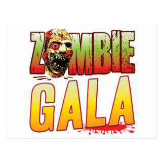 Gala Zombie Head Postcard