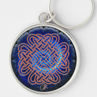 Galactic Celtic Love Knot Keychain