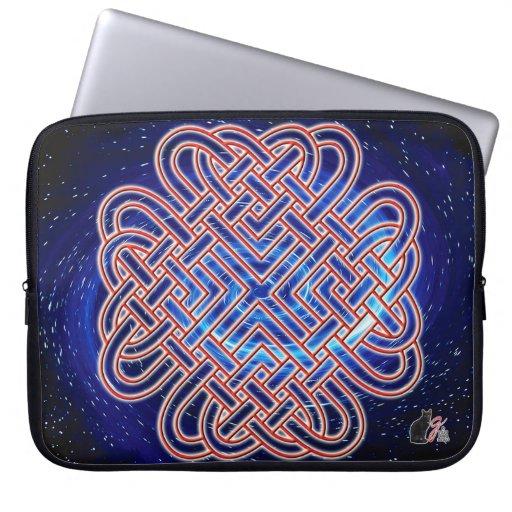 Galactic Celtic Love Knot Laptop Sleeve