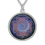 Galactic Celtic Love Knot Sterling Silver Necklace