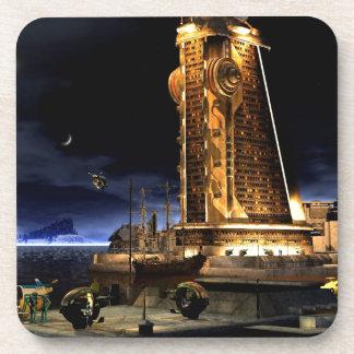 Galactic Cities - Starcity Beverage Coaster