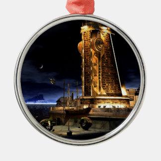 Galactic Cities - Starcity Metal Ornament
