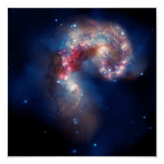 Galactic Collision Poster