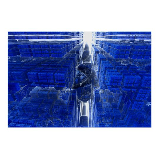 Galactic Computer Fractal Poster