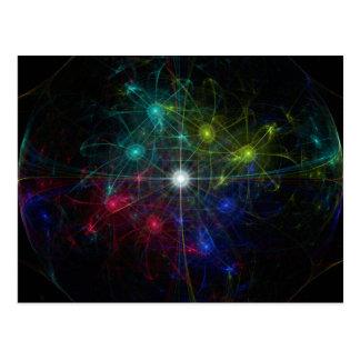 Galactic Coordinates Postcard