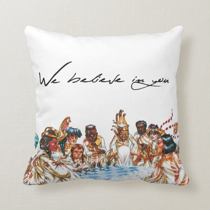 Galactic Council: We believe in you throw pillow