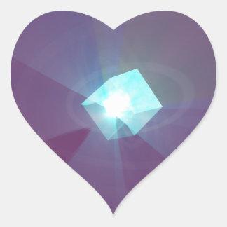 Galactic cube heart sticker