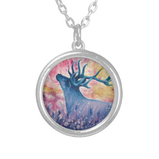 Galactic Elk Painting Necklace
