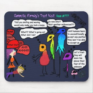 Galactic Family Doing Test Visit #777 Mousepad