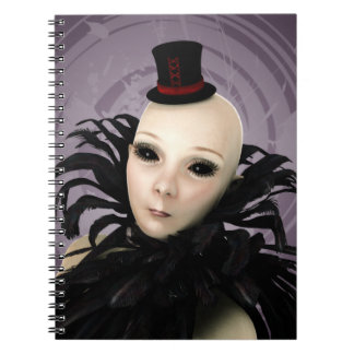 Galactic Glamour Delusions Gothic Art Notebook