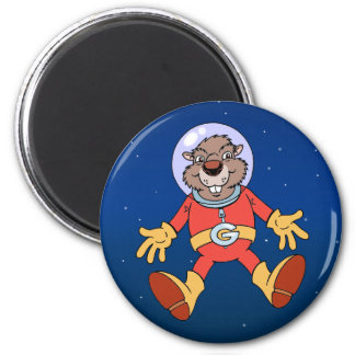 Galactic Groundhog 2 Inch Round Magnet