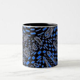 Galactic Interchange In Blue Two-Tone Coffee Mug