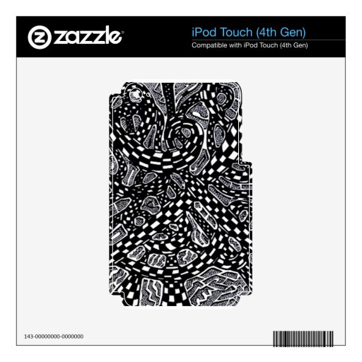 Galactic Interchange Zazzle Ipod and Mp3 Skins iPod Touch 4G Decal