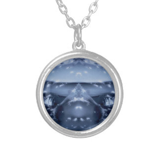 Galactic Nights Round Pendant Necklace