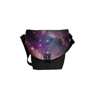 Galactic Outer Space Purple Courier Bag