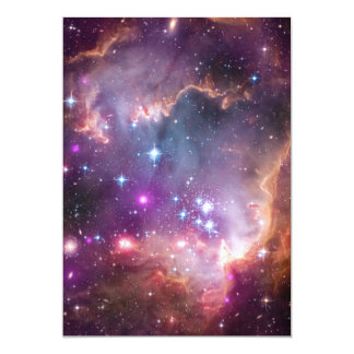 Galactic Outer Space Purple Personalized Announcements