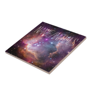 Galactic Outer Space Purple Nebulae Ceramic Tile