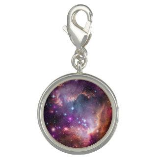 Galactic Outer Space Purple Nebulae Charm Bracelet