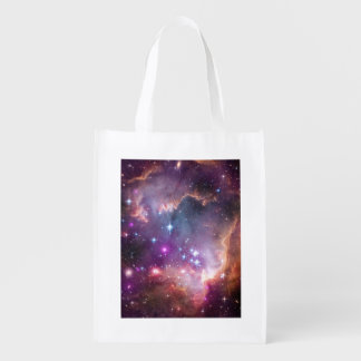 Galactic Outer Space Purple Nebulae Grocery Bag