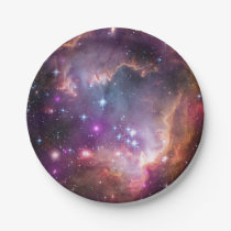 Galactic Outer Space Purple Nebulae Paper Plate