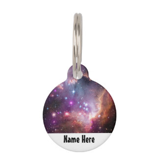 Galactic Outer Space Purple Nebulae Pet ID Tags