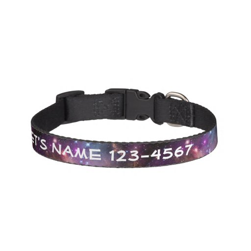 Galactic Outer Space Purple Nebulae Dog Collar