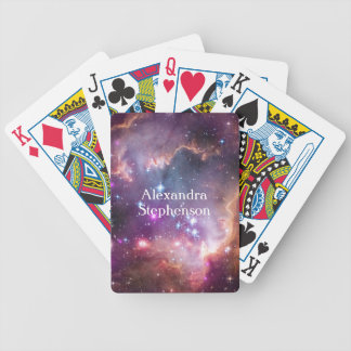 Galactic Outer Space Purple Personalized Bicycle Playing Cards