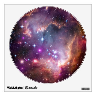 Galactic Outer Space Purple Wall Graphic