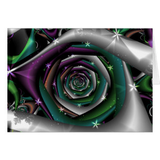 Galactic Rose Fractal Card