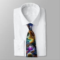 Galactic Space Nebula Neck Tie