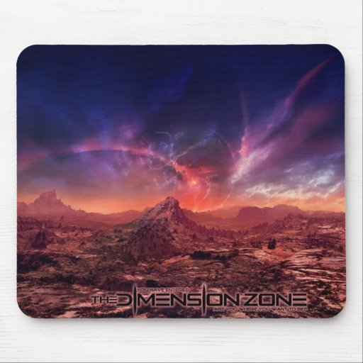 Galactic Sunset Mouse Pad
