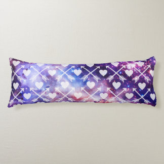 Galactic Tribal Hearts and Arrows Body Pillow