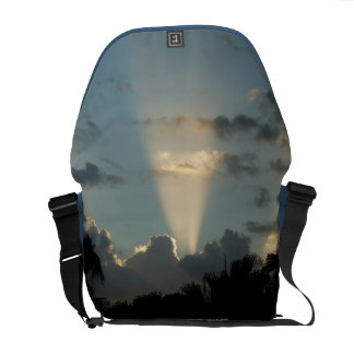 Galactic Vortex Blue Sky Rickshaw Messenger Bag