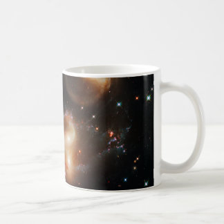 Galactic Wreckage in Stephan's Quintet Classic White Coffee Mug