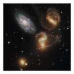 Galactic wreckage in Stephan's Quintet Print