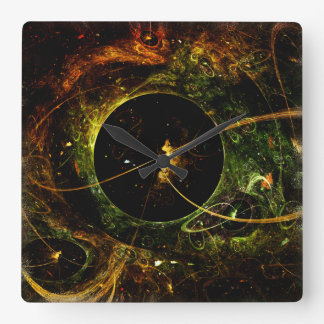 Galactica Space Travel Science Fiction Square Wall Clocks
