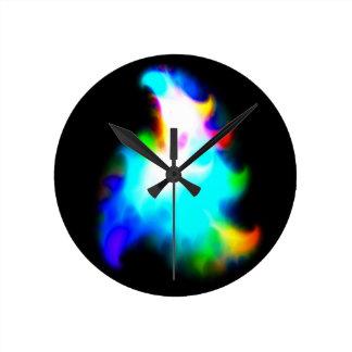 GalacticRainbow Round Clock