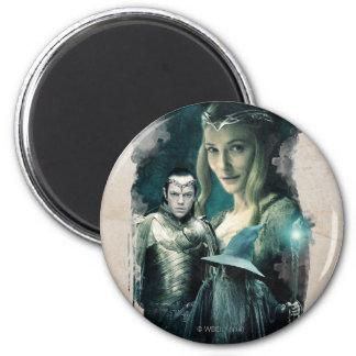 Galadriel, ELROND™, & Gandalf Graphic 2 Inch Round Magnet