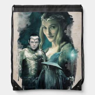 Galadriel, ELROND™, & Gandalf Graphic Drawstring Backpack