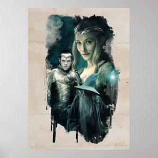Galadriel, ELROND™, & Gandalf Graphic Poster