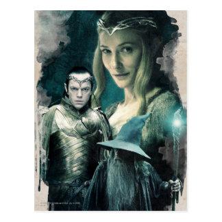 Galadriel, Elrond, y gráfico de Gandalf Postal