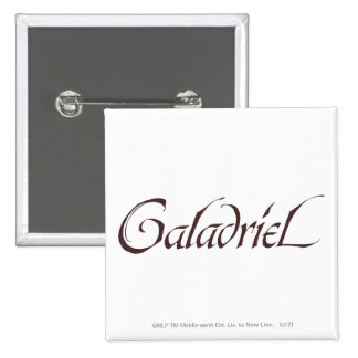 Galadriel Name Solid Pinback Button