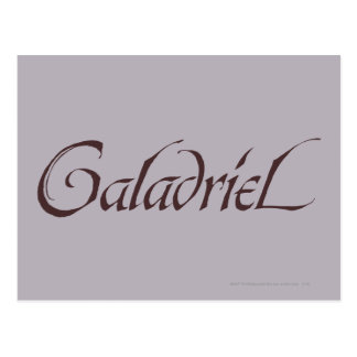 Galadriel Name Solid Postcard