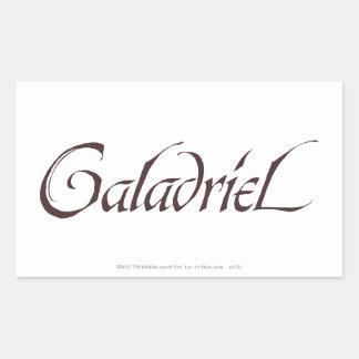 Galadriel Name Solid Rectangular Sticker