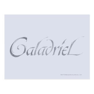Galadriel Name Textured Postcard